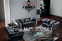 2014 new post modern sectional leather sofa European style living room furniture 1+2+3