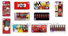Hot 10pcs / lotes por atacado Duff Beer Simpsons tampa da caixa do disco branco para iPhone 4G 4 4S + frete grátis(China (Mainland))