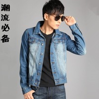 Male denim shirt boys long-sleeve autumn and winter fashion male denim shirt outerwear male
