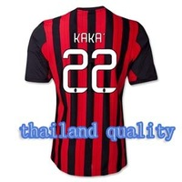 Wholesale! New  Top  thailand quality AC milan 13-14  Home Jersey soccer shirt  KAKA 22  free shipping S,M,L,XL