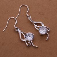 E271 Free shipping Lose money Promotion! Wholesale 925 silver earrings, 925 silver fashion jewelry,charm Earrings for women