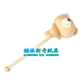 Plush cartoon toy music hammer back massage stick knock back stick vocalization hammer massage stick