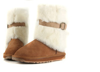 Emu cork snow boots wool women's shoes rabbit fur knee-high boots w2021