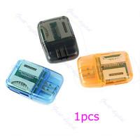 D19+5pcs/lot SDHC SD MMC Memory Card Reader 4 in 1 USB 2.0 Adapter