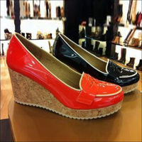Red 2013 japanned leather high-heeled platform wedges shoes 9ef03 paltform