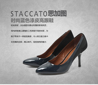 Big 2013 ey205 japanned leather stiletto pointed toe genuine leather shoes