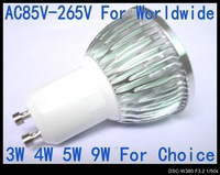 9W GU10 220V 240V Warm WhiteLED Bulb Spot light 110V Lamp lighting led spotlight 6 color Bulbs AC85V-265V LS72