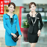 Work wear piece set autumn fashion slim ol women's suit set work wear uniform formal skirt  free shipping