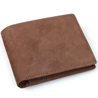 2013 personality vintage crazy horse leather handmade design male cowhide short wallet male bags