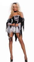 Fashion halloween gloves stage clothing game uniforms temptation cosplay