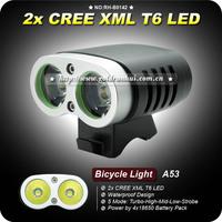 1SET Super High Quality D99 2 xCree XM-L T6 LED 5 Modes intelligent Power Indicate Bike Bicycle Light+4x18650 Battery Pack