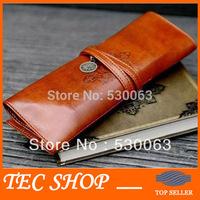 2pcs/lot Retro Makeup Bag Twilight Leather Retro Pencil Bag Pen Case Free Shipping