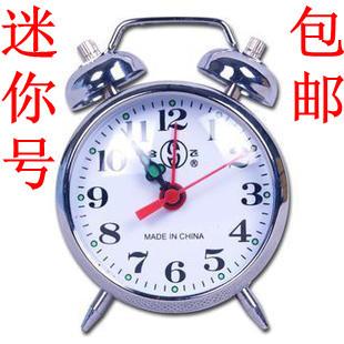 Mechanical alarm clock wind up alarm clock gold silver 806 mini