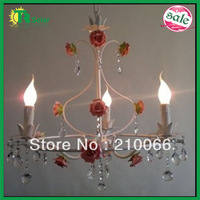 Free Shipping Fashion Modern Rose Flower 3 Lighting For Bedroom, Living room, Coffee Shop, ect