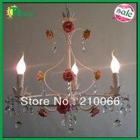pendant Rose Flower Pink Chandeliers Lighting Free Shipping Fashion Lights Modern Garden Light Bedroom Living room Coffee Shop