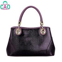 The new 2013 100% genuine leather handbag designer handbags fashion leisure crocodile grain cowhide women messenger bag D10201