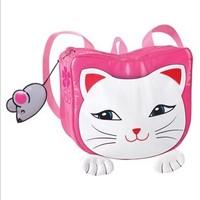 Fashion Girls waterproof backpack school bag lucky cat 2013 Sunlun Free Shipping