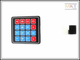 10Pcs 4*4 Membrane Numeric Alphabetical Functional Matrix Keypad Keyboard For MCU Interface(China (Mainland))