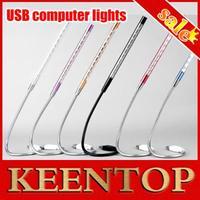 Metal frame! 1Pcs 10Led USB Led Light Cheap Usb Light Usb Reading Lamp For Laptop Notebook PC High Bright 6 Colors to Choose.