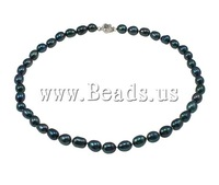 Free shipping!!!Natural Freshwater Pearl Necklace,Jewelry For Men, Cultured Freshwater Pearl, brass bayonet clasp, Round