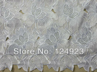 High grade white Swiss Voile Lace African Lace Fabric with stones 100% cotton on sale 2089