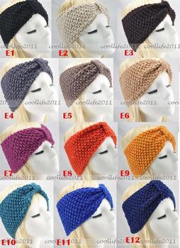 NEW FASHION Head Wrap Cap Hand Knit Crochet Cute Flower &headwrap Headband