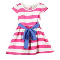 5pcs/lot 100% cotton 2014 summer little girl dress sleeveless Striped dresses children clothing cheap girl dresses