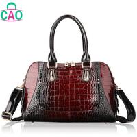 100% genuine leather handbag designer handbags fashion leisure high-grade crocodile grain cowhide women messenger bag D10204