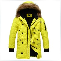 2014 autumn and winter men's fashion down jacket,plus size men thickening casual duck down coat outwear,military jacket for men