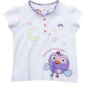 2013 Target  Free shipping children kids girl Giggle  Hoot Goodnight Pyjamas only top