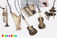 New Creative musical instrument designs Metal Bookmark / Book marks / Wholesale