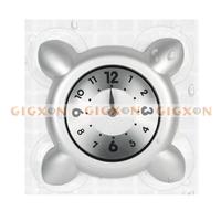Bathroom Waterproof wall clock silver