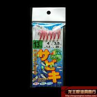 Rubber belt fish luminous bionic leather red hook shaizhi white hook leather hook lure