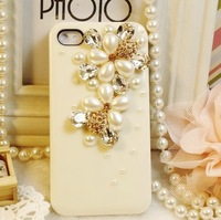 Flower  for apple   iphone4 5 4s 5 rhinestone phone case diamond mobile phone case protection case