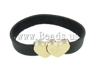 Free shipping!!!Leather Cord Bracelet,Wholesale Jewelry, zinc alloy magnetic clasp, mixed colors, 17x19mm, 12mm