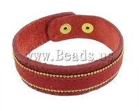 Free shipping!!!Leather Cord Bracelet,2013 Womens, zinc alloy clasp, mixed colors, 19mm, Length:7-8.5 Inch, 10Strands/Bag