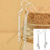 Free Shipping  24Hours Handle100PCS Lot 925 Silver Jewelry Findings Double ROLO Chain 925 Sterling Silver Earring Hooks Earwire