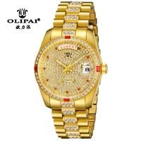 new arrive luxury Swiss Brand men diamond fully-automatic mechanical hand wind watches men 18k gold watch rhinestone waterproof