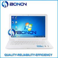 In stock 13.3 inch netbooks laptops Intel Atom D2500 windows 7/windows XP notebook computer wifi webcam 4G 500G
