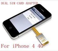 DUAL SIM CARD ADAPTER WITH BACK CASE FOR APPLE FOR iPHONE 4 4G Q-power Q-sim TWIN DOUBLE SIM