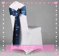 Free Shipping 100 French Blue Satin Chair  Sash For Wedding Decoration & Party Supplies US Navy Supplies