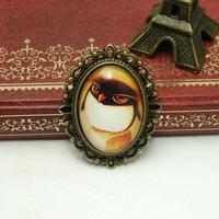 Weinstein handmade accessories 80615 - - time gem vintage 2-illust brooch corsage penguin