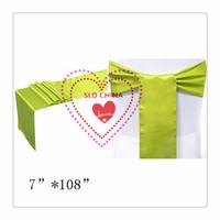 Free Shipping 100 Lavender Satin Chair  Sash For Wedding Decoration