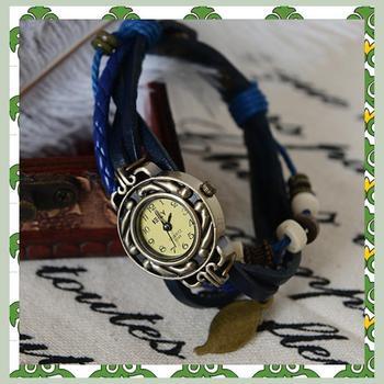 cheap Fashion bracelet watch fashion table female student table vintage blue