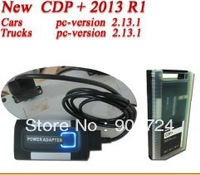 2013 2 R2!!! free active DHL FREESHIPPING New design plastic box release R1 CAR+TRUCK TCS (TRUCK CAR SCANNER) CDP+ PLUS PRO