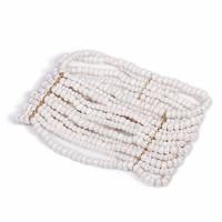 2014 new arrival time-limited charm bracelets [min 15usd]_ the  diamond beads bohemia white multi-layer glass elastic bracelet