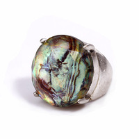 [min limited 15usd]_ new 2014 supernova sale women fashion  vintage silver inlaying abalone shell female brief metal ring finger