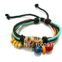 WWQE//Free Shipping !!! Fashion Korea smashbox jewelry leather cord bracelet ,special mixed style bracelet
