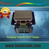 original&new dx7 solvent print head for Roland VS RE RA FP FH XF BN 200 420 540 640 740 printer gold face printhead dx7 head