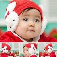Child hat baby hat baby cap rabbit ears pocket hat earmuffs ear protector cap autumn and winter
